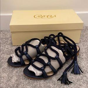 Candela sandals navy blue 8